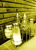 Tabella italiana del ristorante Fotografia Stock