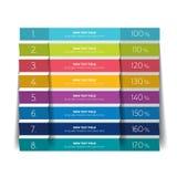 Tabella, modello di progettazione di programma con la fila 8 illustrazione di stock