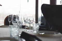 Tabella nel ristorante Immagine Stock