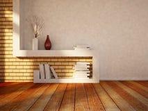 Tabella per i libri, vasi Fotografia Stock