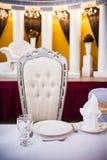 Tabella pranzante elegante Fotografia Stock Libera da Diritti