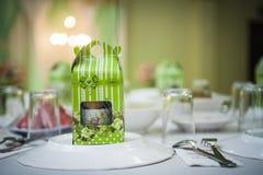 Tabella pranzante elegante Immagini Stock