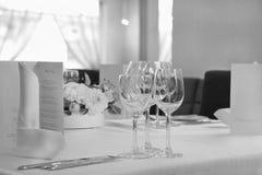 tabella servita ristorante Fotografia Stock Libera da Diritti