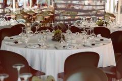 Tabella wedding decorata Immagine Stock Libera da Diritti