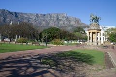 Tabellberg från Cape Town företagsträdgårdar arkivbild