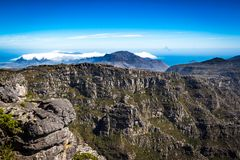 Tabellberg i Cape Town Arkivfoto