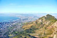 Tabellbergsikt Cape Town Sydafrika fotografering för bildbyråer