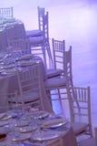 Tabelle bianche fotografia stock