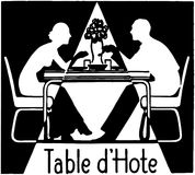 Tabelle d'Hote Stockfotografie