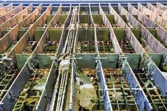 Tabelle der Brennschneidenmaschine Stockfotografie