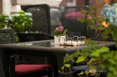 Tabelle in der Gaststätte Lizenzfreies Stockfoto