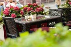 Tabelle in der Gaststätte Lizenzfreie Stockfotografie
