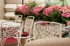 Tabelle in der Gaststätte Lizenzfreie Stockfotos