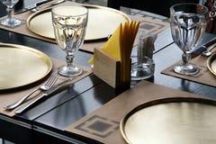 Tabelle an der Gaststätte Lizenzfreie Stockbilder