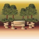 Tabelle der Ruheskulptur von Constantin Brancusi Stockbild