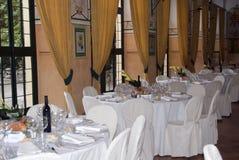 Tabelle di banchetto Fotografie Stock