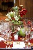 Tabelle di cerimonia nuziale Fotografia Stock Libera da Diritti