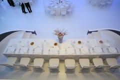 Tabelle di cerimonia nuziale immagine stock