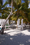 Tabelle di massaggio sulla spiaggia Fotografia Stock