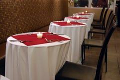 Tabelle di pranzo dei biglietti di S. Valentino Immagine Stock Libera da Diritti