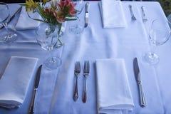 Tabelle, die 6 einstellt Stockfoto