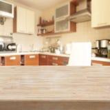Tabelle in einer Küche Stockbild