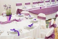 Tabelle eingestellt für Hochzeit Lizenzfreies Stockbild