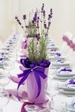 Tabelle eingestellt für Hochzeit Lizenzfreie Stockfotos