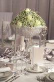 Tabelle eingestellt für Hochzeitsabendessen Stockfoto