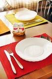 Tabelle eingestellt für Mahlzeit Stockfoto