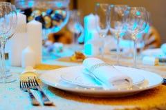 Tabelle eingestellt für Partei oder Hochzeit Stockfotografie
