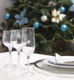 Tabelle eingestellt für Weihnachten Lizenzfreies Stockfoto