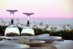 Tabelle für Abendessen Lizenzfreie Stockfotografie