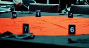 Tabelle für das Spielen der Mafia Stockfoto