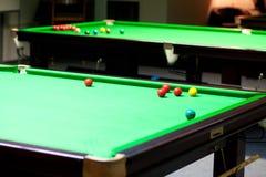 Die Snookertabellen Lizenzfreies Stockbild