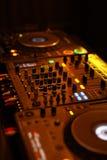 Tabelle für DJ lizenzfreies stockbild