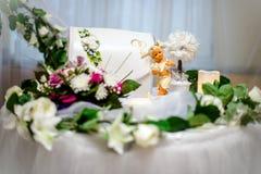 Tabelle für Geschenke an der Hochzeit Stockfotos
