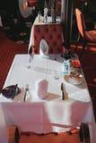 Tabelle gedient zum Frühstück Stockfotografie