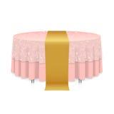 Tabelle mit Tischdecke stock abbildung