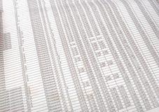Tabelle mit Zahl Stockbild