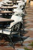 Tabelle nel caffè. fotografia stock