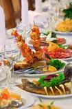 Tabelle stellte für eine Ereignisparty oder -Hochzeitsempfang ein Lizenzfreie Stockfotografie