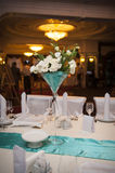 Tabelle stellte für eine Ereignisparty oder -Hochzeitsempfang ein Stockfotos