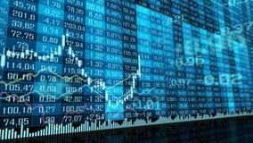 Tabelle und Balkendiagramm von Devisenmarktindizes auf Lager lizenzfreie stockfotografie