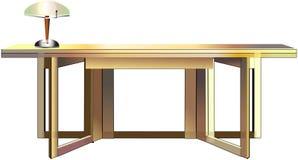 Tabelle und Lampe Stockbilder