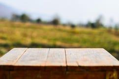 Tabelle und Natur Lizenzfreies Stockfoto