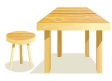 Tabelle und Schemel lizenzfreie abbildung