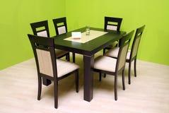 Tabelle und Stühle Stockfotos