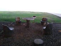 Tabelle und Stuhl stockfoto