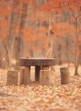 Tabelle und Stuhl stockbild